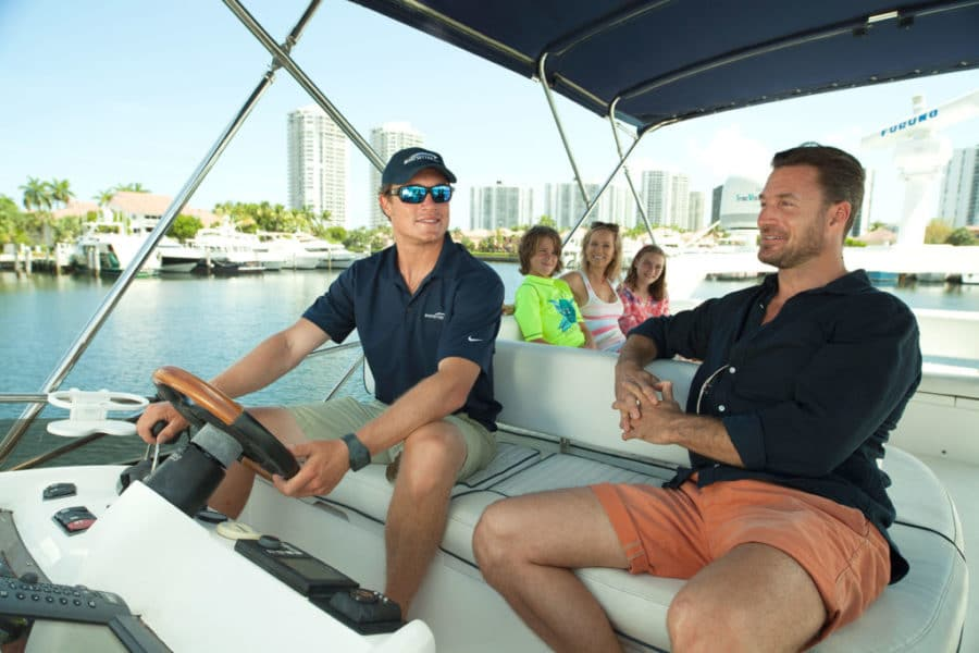 Boat rental captain