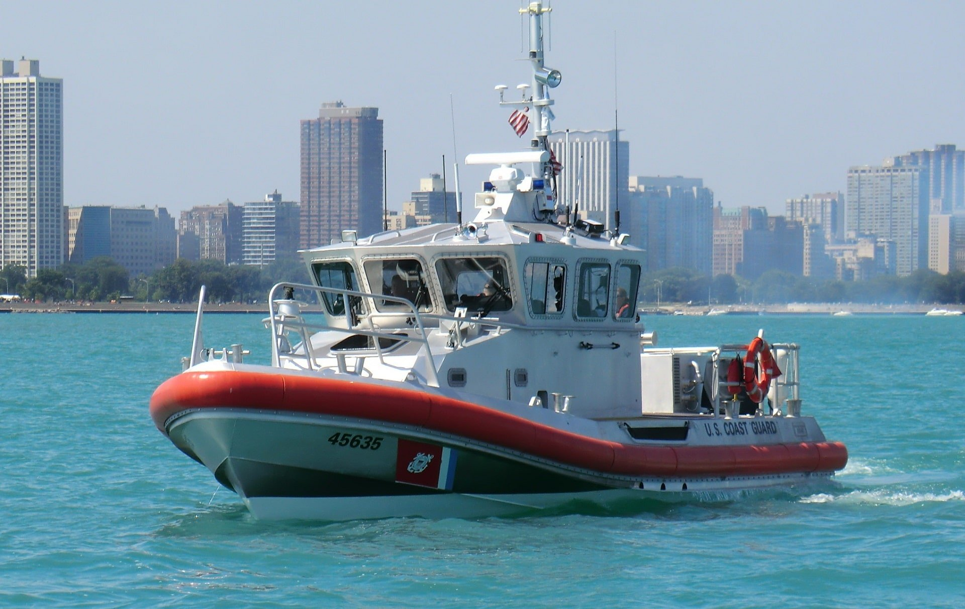 Coast Guard boat on the water