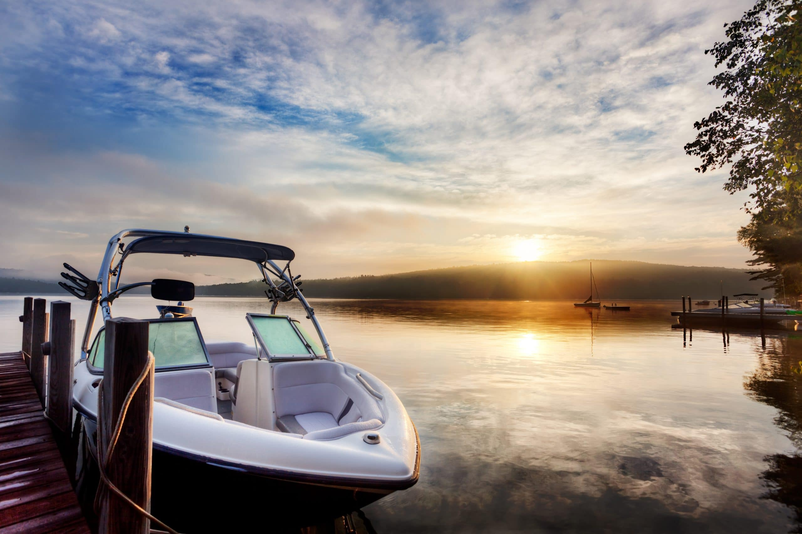 Lake boating