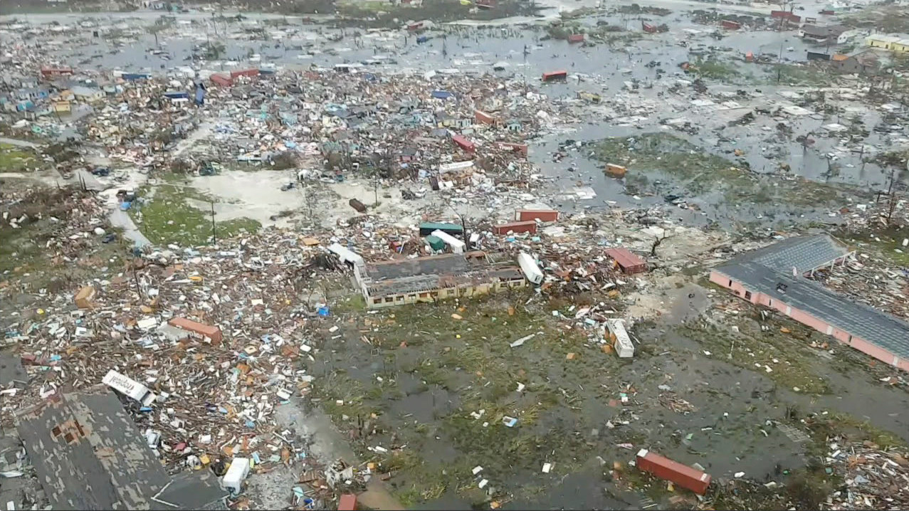 Hurricane Dorian Destruction to the Bahamas