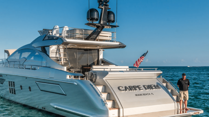 yacht charter for a week price