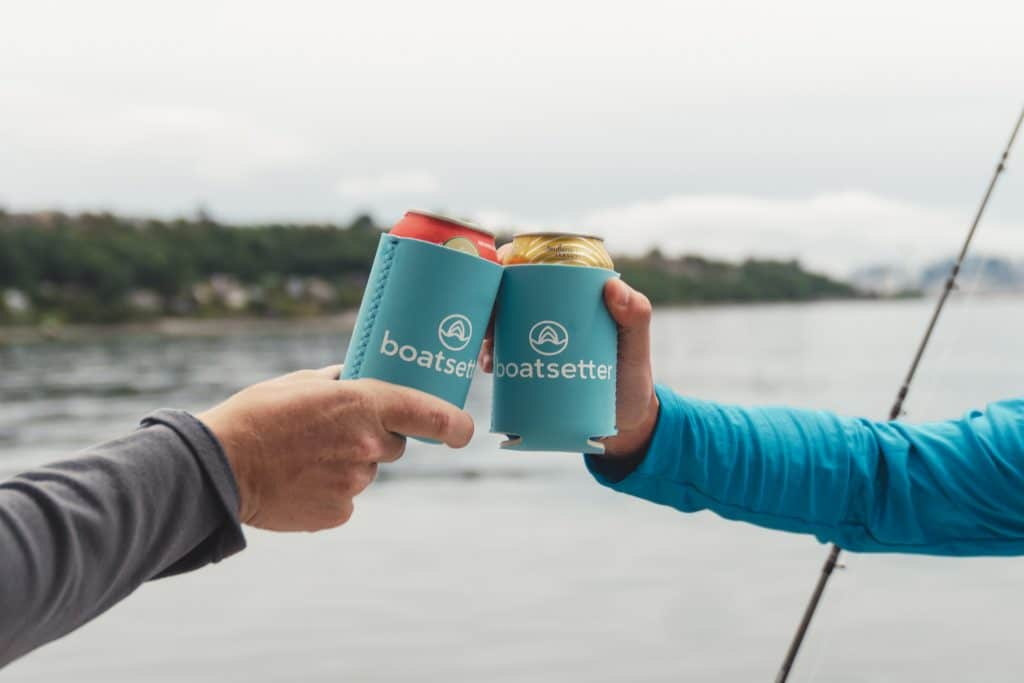 Boatsetter coozies for cheers on fishing charter